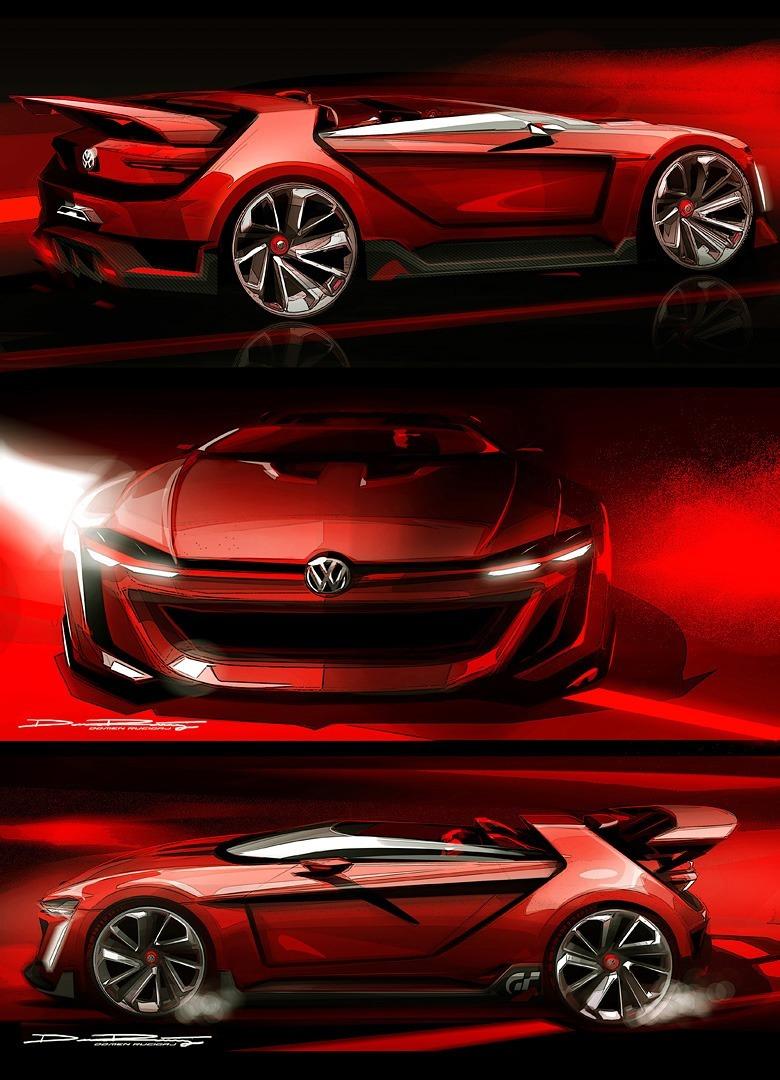 Volkswagen GTI Roadster Vision Gran Turismo Scores 4Motion and 500HP Twin-Turbo VR6 45
