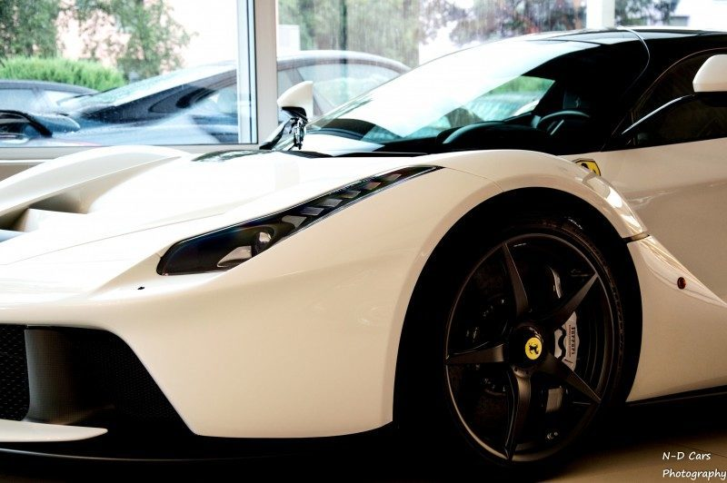 White LaFerrari Snapped in Geneva This Week by N-D Photography 11