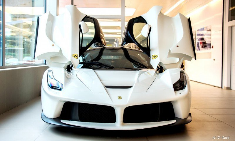 White LaFerrari Snapped in Geneva This Week by N-D Photography 3