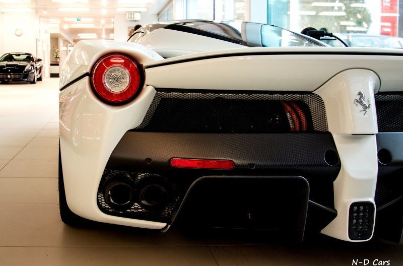 White LaFerrari Snapped in Geneva This Week by N-D Photography 4