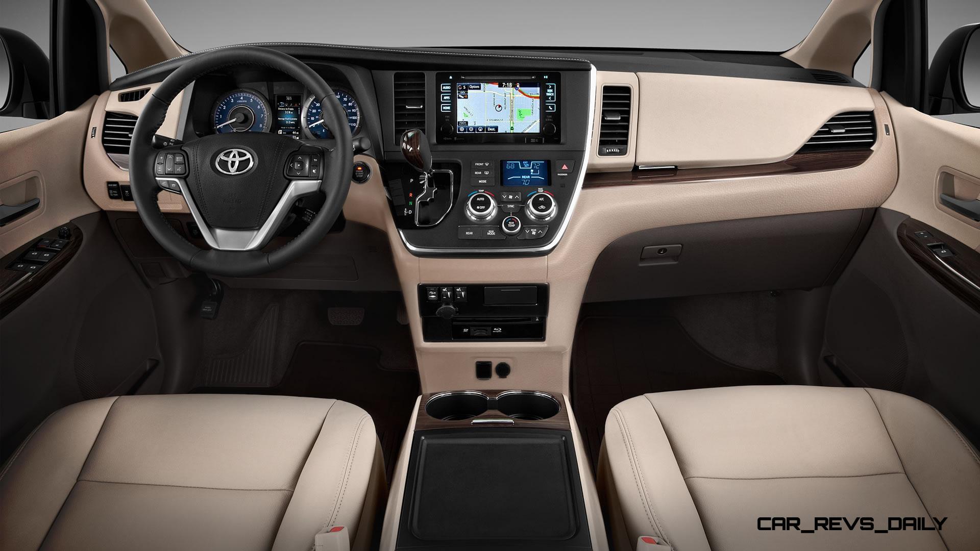 2015 Toyota Sienna Brings Refreshed Touchscreens Dark