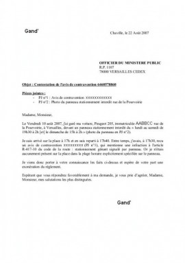 lettre de contestation amende