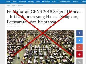 Pengumuman Formasi CPNS 2018 Honorer K2 Beredar Hoax