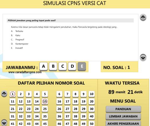 Gratis Download Aplikasi Latihan Soal Tes CPNS Sistem CAT Scan