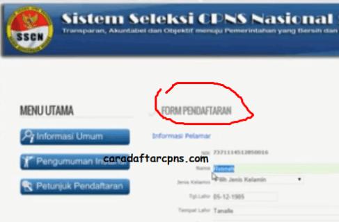 Panduan Cara Daftar CPNS Online di sscn.bkn.go.id