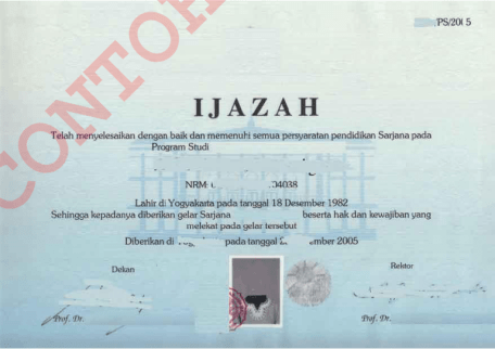 Ijazah Diploma III/Sarjana