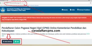 Panduan Cara Pendaftaran CPNS Online Kemendikbud 2018
