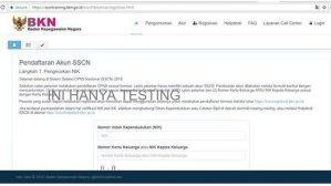 Latihan Cara Daftar CPNS Online di Web SSCN BKN