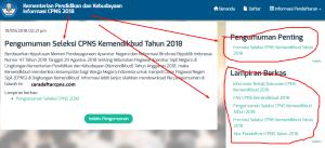 Pengumuman Hasil Sanggah CPNS Kemendikbud 2019