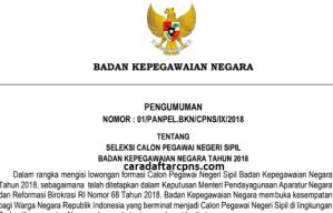 Syarat pendaftaran cpns 2018 online