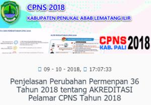 Hasil SKB CPNS Kabupaten Pali 2018 Lulus Wawancara Psikotes