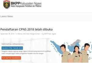 Pengumuman Hasil Tes SKD CPNS Kabupaten Ngawi 2018