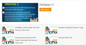 Hasil Akhir Seleksi CPNS Kabupaten Pasuruan 2018