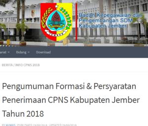 Hasil Akhir Seleksi CPNS Kabupaten Jember 2018
