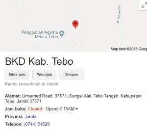 Jadwal dan Lokasi Tes SKD CPNS Kabupaten Tebo 2018