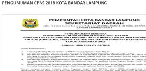 Pengumuman Hasil SKD CPNS Provinsi Lampung 2018