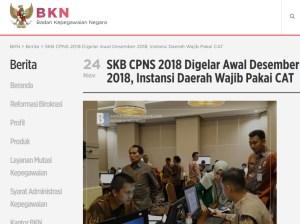 Jadwal dan Lokasi Tes SKB CPNS 2018