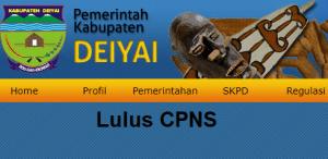 Pengumuman Hasil Tes SKD CPNS 2018 Kabupaten Deiyai