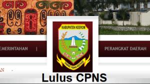 Pengumuman Hasil Tes SKD CPNS 2018 Kabupaten Keerom