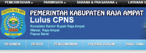 Pengumuman Hasil Tes SKD CPNS 2018 Kabupaten Raja Ampat