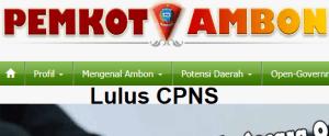 Pengumuman Hasil Tes SKD CPNS 2018 Kota Ambon