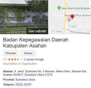 Pengumuman Hasil Tes SKD CPNS Kabupaten Asahan 2018