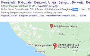 Pengumuman Hasil Tes SKD CPNS Kabupaten Bengkulu Utara 2018