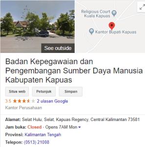 Pengumuman Hasil Tes CAT SKD CPNS Kabupaten Kapuas 2018