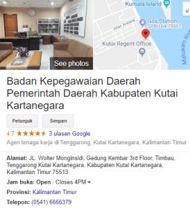 Pengumuman Hasil Tes SKD CPNS Kabupaten Kutai Kartanegara 2018