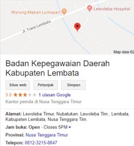 Pengumuman Hasil Tes SKD CPNS Kabupaten Lembata 2018