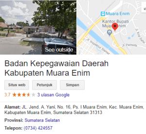 Pengumuman Hasil Tes SKD CPNS Kabupaten Muara Enim 2018