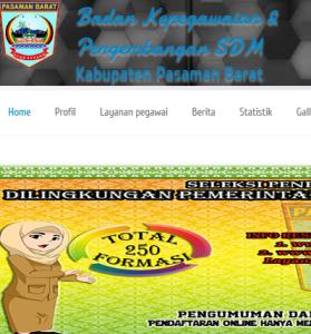 Pengumuman Hasil Tes SKD CPNS Kabupaten Pasaman Barat 2018