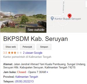 Pengumuman Hasil Tes CAT SKD CPNS Kabupaten Seruyan 2018
