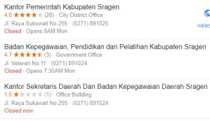 Pengumuman Hasil Tes SKD CPNS Kabupaten Sragen 2018