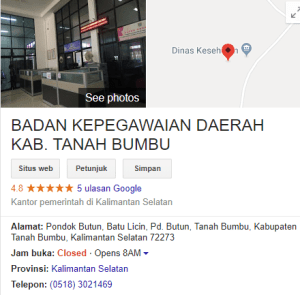 Pengumuman Hasil Tes SKD CPNS Kabupaten Tanah Bumbu 2018