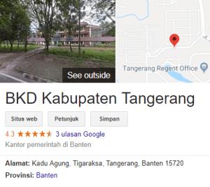 Pengumuman Hasil Tes SKD CPNS Kabupaten Tangerang 2018