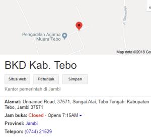 Pengumuman Hasil Tes SKD CPNS Kabupaten Tebo 2018