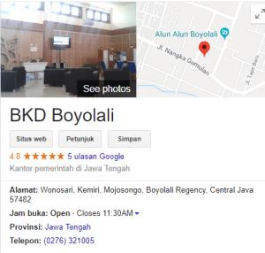 Pengumuman Hasil Tes SKD CPNS Kabupaten Boyolali 2018