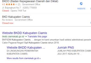 Pengumuman Hasil Tes SKD CAT CPNS Kabupaten Ciamis 2018