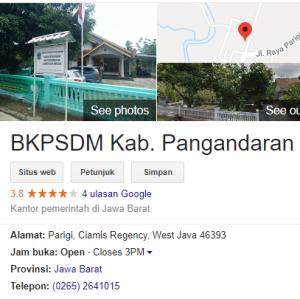 Pengumuman Hasil Tes SKD CPNS Kabupaten Pangandaran 2018