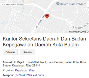 Pengumuman Hasil Tes SKD CPNS Kota Batam 2018