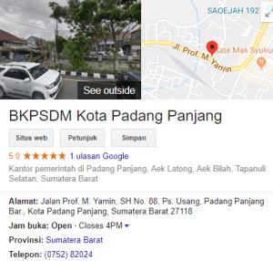 Pengumuman Hasil Tes SKD CPNS Kota Padang Panjang 2018