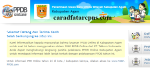Jadwal PPDB SMA SMK Negeri Kab Agam 2020 2021