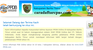 PPDB SMP Kabupaten Barito Timur