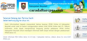 PPDB SMP Kabupaten Boyolali