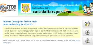Jadwal PPDB SMA SMK Negeri Kab Dairi 2020 2021