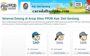 Jadwal PPDB SMA SMK Negeri Kab Deli Serdang 2020 2021