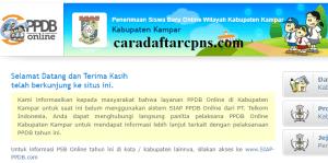 Jadwal PPDB SMA SMK Negeri Kab Kampar 2020 2021