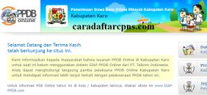PPDB SMP Kabupaten Karo