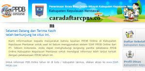 Jadwal PPDB SMA SMK Negeri Kab Mentawai 2020 2021